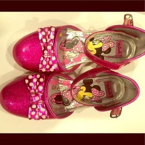 Girls Disney Minnie Mouse ankle strap shoes